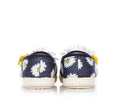 MONNALISA - Chaussure bleue sans lacets en tissu, amusante et romantique, fille, filles