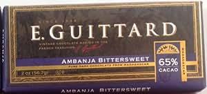 E. Guittard Ambanja Bittersweet - 65% Cacao Dark Chocolate Bar from Madagascar