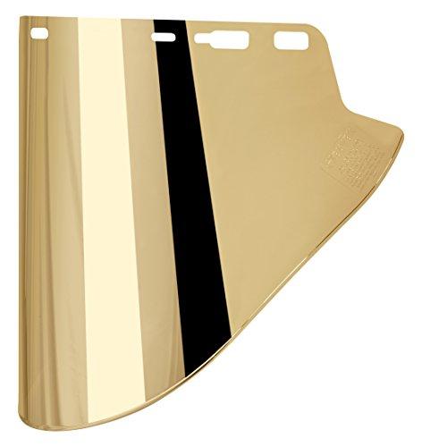 Elvex WELFS18GL Fs-18Gl Gold Coated Molded Cylinder Lexan Face Shield Super Hard Coat, 18.5
