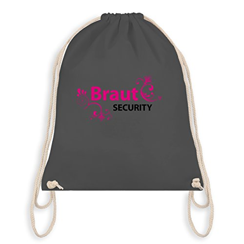 JGA Junggesellinnenabschied - Braut Security - Turnbeutel I Gym Bag Dunkelgrau
