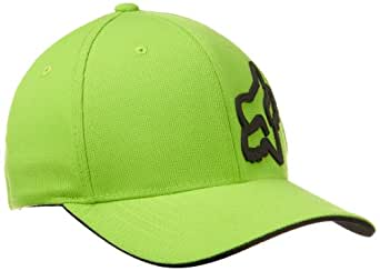 Fox Men's Flex Fit Legacy Logo Hat, Green, S/M