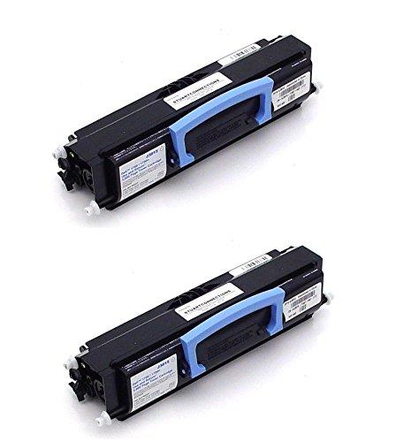 GLB Premium Quality Compatible Dell 1700, 1710, 310-7025, 310-5402, 310-7041 K3756 Black Toner Cartridge For Dell 1700, 1700n, 1710, 1710n Printers ( 2- Pack ) ()