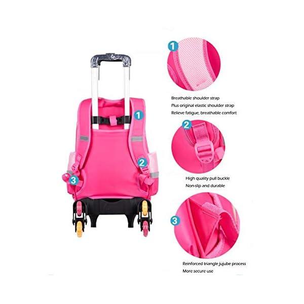 Zaino trolley per bambini – Zaino da scuola per ragazzi e ragazze con grande capacità, elegante zaino per la scuola… 3 spesavip