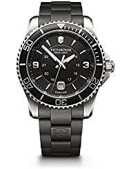 Victorinox Swiss Army Mens 241698 Maverick Watch with Black Dial and Black Rubber Strap
