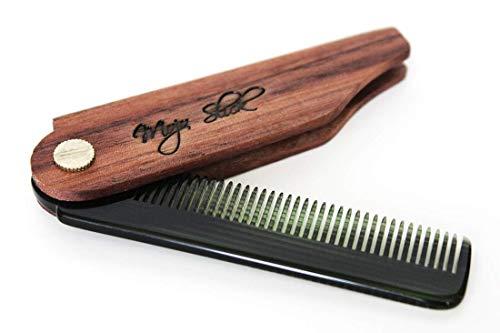 Mojo Slick Folding Comb - Black Walnut (Pivot Brass Polished)