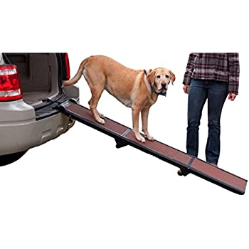 Pet Gear Tri-Fold Ramp, Supports up to 200lbs, 71 in. Long, Patented Compact Easy-Fold Design, Two Models to Choose from, Safety Tether Included