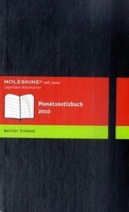 2009 Twelve Month Calendar - Moleskine Monthly Notebook 2010 12 Month Black Soft Large by Moleskine (2009-06-24)