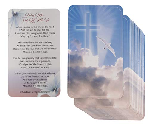 Sympathy Cards - 100-Pack Bereavement Poem for Celebration of Life Memorial Service, Comfort and Remembrance Card for Funeral, 2.5 x 4.2 Inches ()