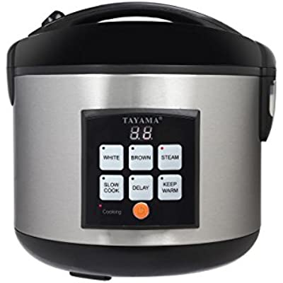 Click for Tayama TRC-50 5Cup Digital Rice Cooker & Food Steamer, Black