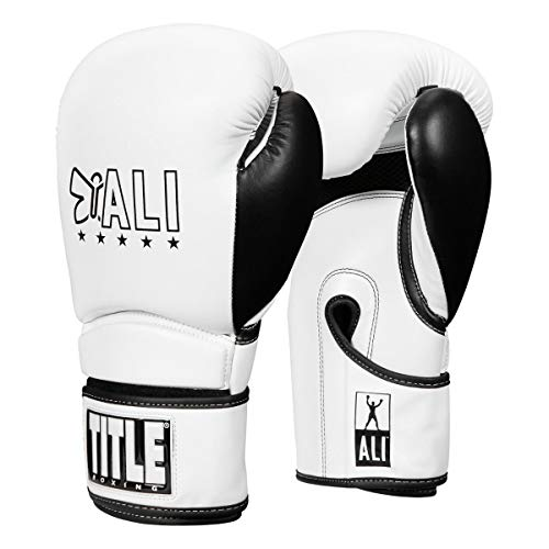 Title Boxing ALI Rumble Training Gloves, White/Black, 16 oz