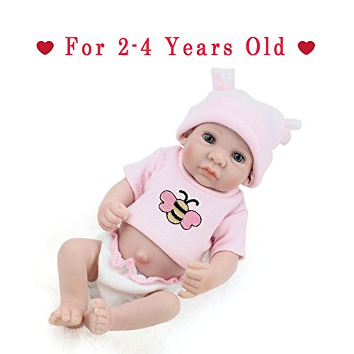 Reborn Newborn Baby Realike Doll Handmade Lifelike Silicone Vinyl Weighted Alive Doll for Toddler Gifts 10
