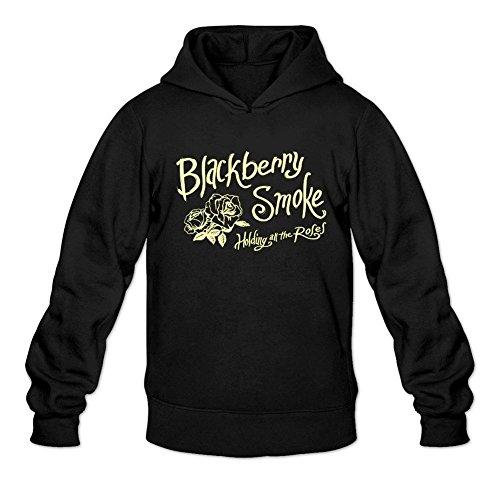 (SUNRAIN Men's Customized Rock Band Blackberry Smoke Rose Logo Hoodies XXL)