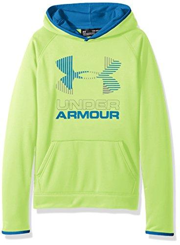 Under Armour Boys SG AF Solid Big Logo Hoodie, Quirky Lime /Steel, Youth Medium
