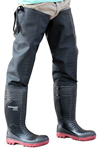 Dunlop Acifort A252931 Mens coscia Wader Nero