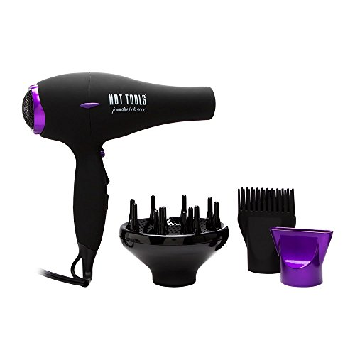 Hot Tools Tourmaline Ionic 1875 Watt Professional Dryer Model No. 1043 (Best Chi Hair Dryer Review)