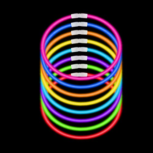 300 Pack Glow Sticks with 100 22'' Necklaces + 200 8'' Bracelets; Connector Included; Glowstick Bundle Party Favors, Glow in the Dark Party Bulk Supplies, Neon Light Up Accessories for Kids and Adults. by JOYIN (Image #3)