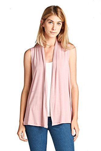 (ReneeC. Women's Extra Soft Natural Bamboo Sleeveless Cardigan - Made in USA (3X-Large,)