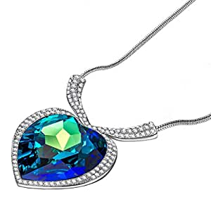 Qianse Heart of the Ocean Pendant Necklace