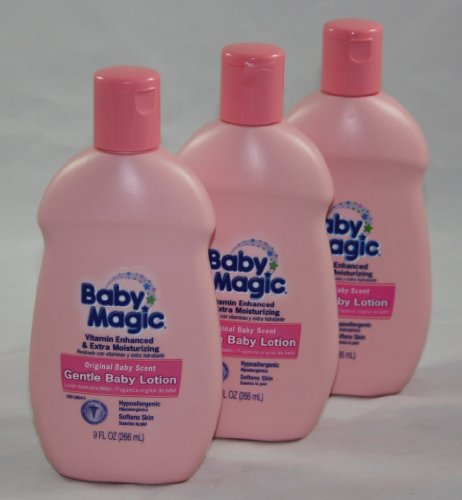 Baby Magic Gentle Baby Lotion, Original Baby Scent, 9 Oz - 3-pack