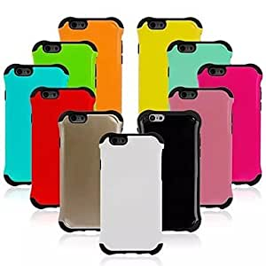 """TOPQQ Armor Style PC Hard Back Cover for iphone 6(4.7"""")(Assorted Colors) , Blue"""