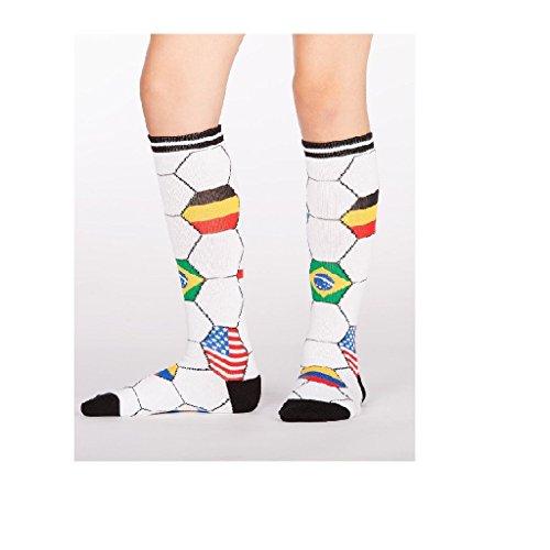 Sock It To Me, Kick It, Youth Knee-High Socks, Futbol, Soccer Country Flag Socks ()
