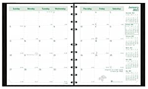 Brownline 2013 EcoLogix CoilPro Monthly Planner, 14 months (December 2012 - January 2014), Hard Cover with Twin-Wire, Black, 11 x 8.5  Inches, 100% post-consumer recycled paper  (CB435C.BLK)