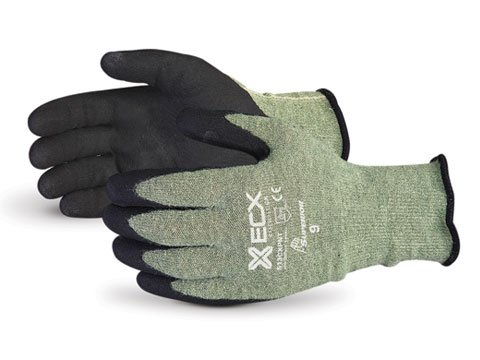 Superior S13CXPNT Emerald CX Kevlar/Stainless Steel String Knit Glove with Micropore Grip Nitrile Palm, Work, Cut Resistant, 13 Gauge Thickness, Size 9 (Pack of 1 Pair) - Kevlar String Knit Glove