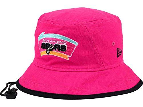 Hardwood Nba Hats - San Antonio Spurs NBA New Era Tipped Hardwood Classics Bucket Boonie Rose Hat (X-Large)