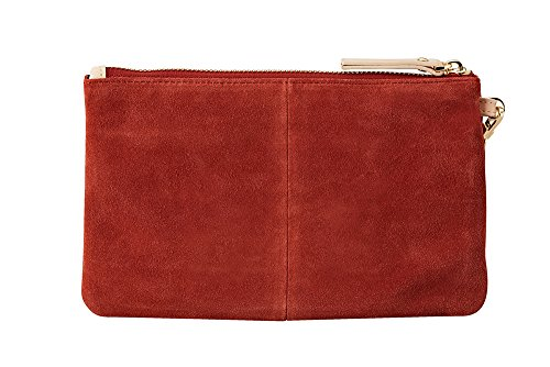 HButler 4000mAh Mighty Purse Suede Wristlet for Apple/Android Phones - Rust by HButler (Image #1)