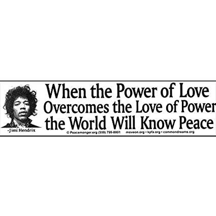 Amazoncom When The Power Of Love Overcomes The Love Of Power Jimi
