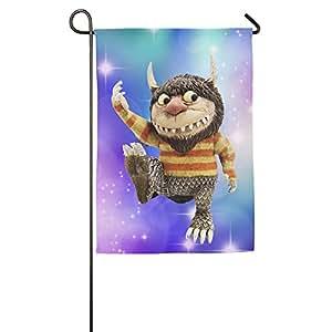 Personalizado decorativa Bienvenido bandera de casa de poliéster banderas impreso en las cosas salvajes son para interior/al aire libre con dos tamaño–1218o 1827inch