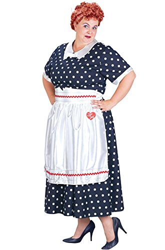 Adult I Love Lucy Polka Dot Dress Costume, Ladies Plus (Dress Sizes (Plus Size I Love Lucy Costumes)