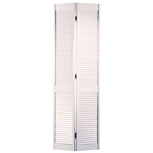 Masonite 36 In. x 80 In., Interior Bifold Door in White, Louver Louver - Interior Bi Fold Doors
