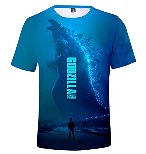 Godzilla T-shirt Tee - Godzilla 2 King of The Monsters T Shirt Fashion 3D Printed Fans Tshirt for Men and Women Tee