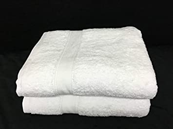 Lote de 2 grandes toallas de baño - 100 x 150 - Esponja de 600 G/m² 100% algodón - blanca: Amazon.es: Hogar