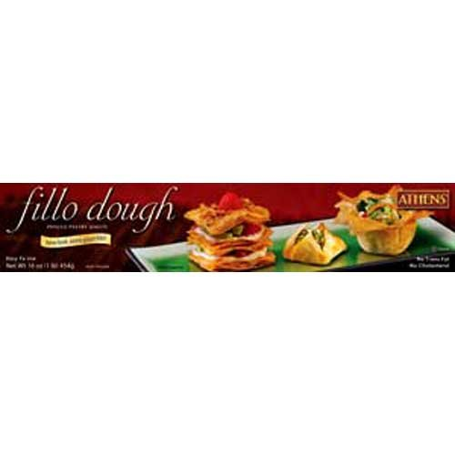 Athens Foods Fillo Dough Sheet, 1 Pound -- 24 per case.