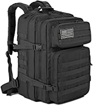 QT&QY 45L Military Tactical Backpacks Molle Army Assault Pack 3 Day Bug Out Bag Hiking Treeking Ruck