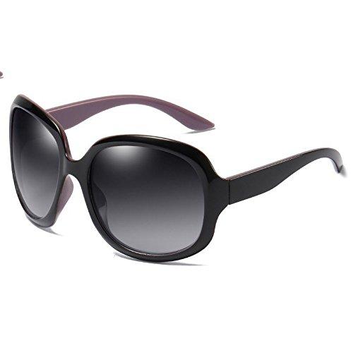 Personnalité LANZHI 8 Lunettes Uv400 Chic Black Fashion Confort Sports Polarizer Soleil Ladies frame Classique Plage Couleur Driving purple Party de rn8SRY1qr