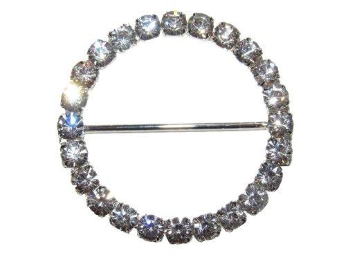 Round Rhinestone Scarf Holder/ Belt (Oblong Clip)