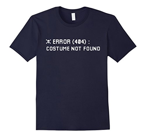 Mens Error 404 Costume Not Found Nerdy Halloween Skull T-Shirt XL Navy - Cheap And Easy Halloween Costumes For College Students