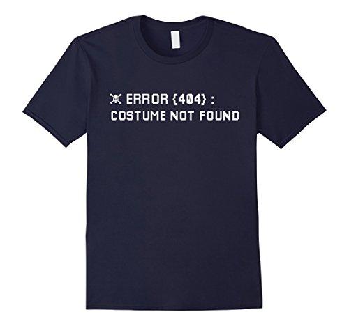 Top College Student Halloween Costumes (Mens Error 404 Costume Not Found Nerdy Halloween Skull T-Shirt XL Navy)
