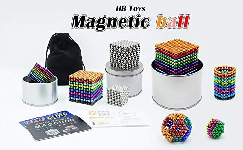 HBDeskToys 5MM Magic Ball Set for Office Stress Relief |Desk Sculpture Toy Perfect for Crafts, Jewelry, Education |Fidget Cube Provides Relief for Anxiety, ADHD, Autism, Boredom by HBDeskToys (Image #5)