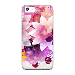 Hot Tpye Bright Flower Abstraction Case Cover For Iphone 5c