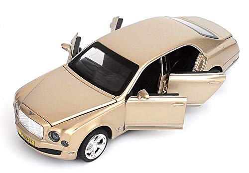 LENO Bentley Mulsanne Diecast Metal Car Models | High Simulation | Scale 1:32 |Colour Golden