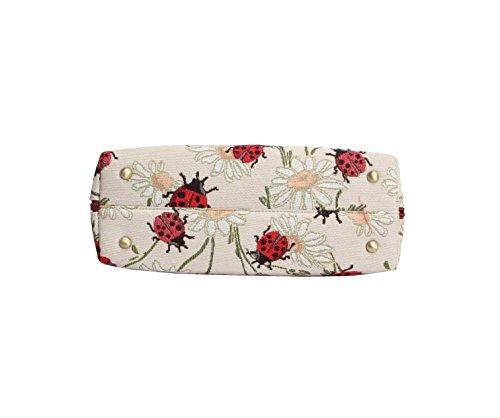 Borsa Signare a spalla convertibile in tessuto stile arazzo alla moda Coccinella