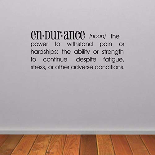 Dalxsh Endurance Dictionary Definition Wall Sticker Gym Wall Decal Gym Quote Wall Art Fitness Decoration 15x35cm