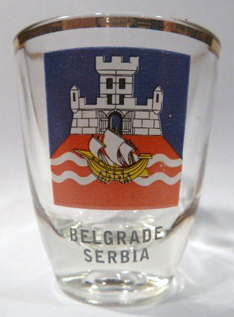 Serbia Belgrade Shot Glass