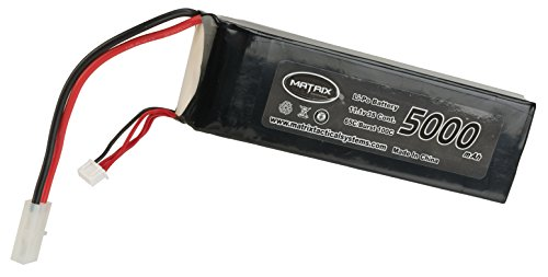 Evike Matrix 11.1V 5000 mAh 65C Purpose Built LiPo (Lithium Polymer) Battery - Large Tamiya (65c Polymer Lithium Battery)