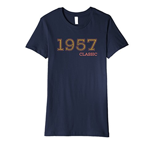Halloween Costume Ideas For Two Guy Friends (Womens 60th Birthday Funny Tshirt, Vintage 1957 Shirt, Gift Idea Large Navy)