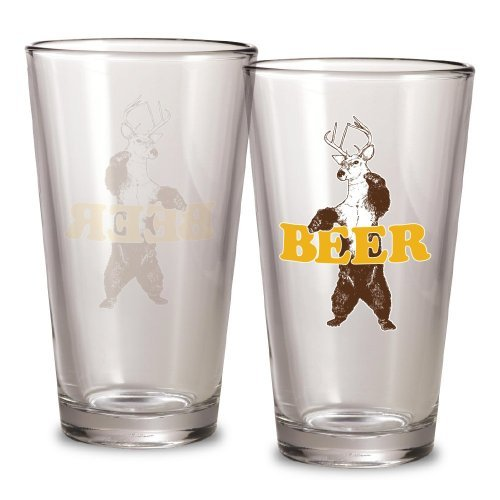 Bear + Deer = Beer Pint